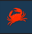 icon crab silhouette vector image