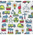 Industrial sketch seamless pattern vector image vector image