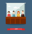 jury in flat style vector image vector image