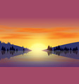 landscape lagoon with mountain in morning vector image vector image