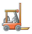 lift truck icon cartoon style vector image