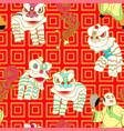 lion dance vector image vector image