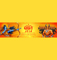 lord rama and ravana for happy dussehra sale vector image vector image