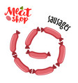 meat - sausages fresh meat icon vector image