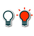 on off light bulb lamp with shadow isolated on vector image vector image