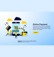 online payment concept with icon and character vector image vector image