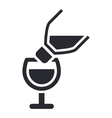 pour icon vector image vector image