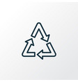 recycle icon line symbol premium quality isolated vector image vector image
