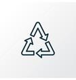 recycle icon line symbol premium quality isolated vector image