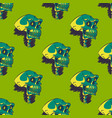 scary skull seamless pattern vector image