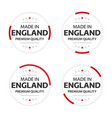 Set four english icons made in england