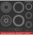 Set of geometric hipster shapes and logotypes654 vector image vector image
