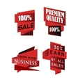 Set of origami labels for business vector image vector image
