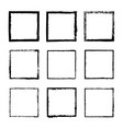set of square frames drawn 4 vector image vector image