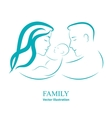 Sketch mom and dad holding a small child vector image vector image