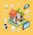 smart house isometric composition poster vector image vector image