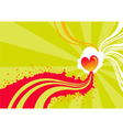 stylized heart background vector image vector image