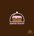 sweet shop logo vector image vector image