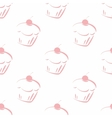 Tile pattern with cherry cupcake vector image vector image