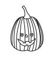 trick or treat - happy halloween line image vector image vector image