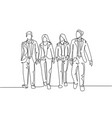 urban commuter workers concept single continuous vector image