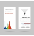 Vertical business card - LED spotlight vector image vector image