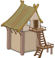 video game object an old house vector image vector image