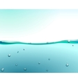 water surface vector image vector image