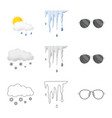 weather and climate sign vector image vector image