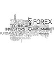 who are top forex chart providers text word vector image vector image
