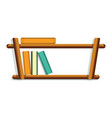 wood book shelf icon cartoon style vector image