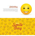 world smile day horizontal flyers vector image vector image