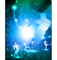 Shiny abstract soccer background vector image