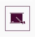 blackboard icon simple vector image