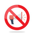 no megaphone prohibition sign vector image