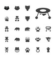22 bear icons vector image vector image