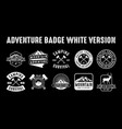 adventure logo and badge good for print vector image vector image