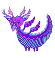 amazing cute colorful dragon with wings horns and vector image