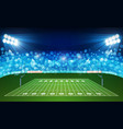 american football arena field with bright stadium vector image vector image