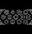 arabesque mandala design 3d round white silver vector image vector image