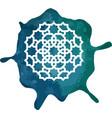 arabesque seal stamp round geometric element vector image