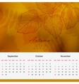 Autumnal calendar page of new 2013 year vector image