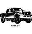 big american - pickup truck usa vector image vector image