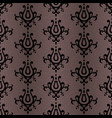 black damask pattern vector image
