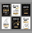 boxing day sale banner design with gold luxury vector image