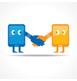 Businessman handshake with tablet stock vector image vector image