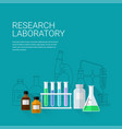 chemical research laboratory vector image