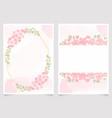 cherry blossom branch 5x7 invitation card vector image vector image