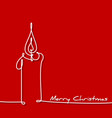 christmas card - continuous line drawing vector image