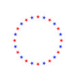 circle stars ornament for 4 th july vector image vector image